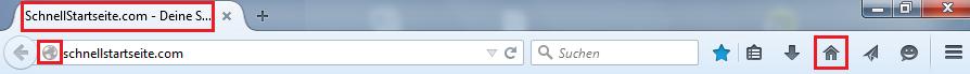 Startseite festlegen in Firefox